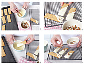 Almond cookies with white chocolate - step by step