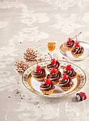 Parisian Christmas sweets with chocolate