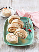 Biscuit roll with rose hip jam