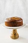 Naked chocolate sponge cake