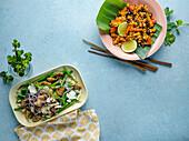 Nutty Green Beans, and Spicy Black Bean Cauliflower Rice