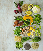 Plant Protein displayed on a background with copy space