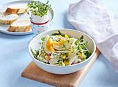 Egg salad with cress