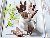 Easter hares with coconut cream
