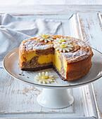 Easter custard and nut tart