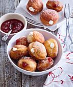 Doughnuts prepared from beer dough