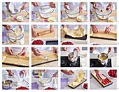 Raspberry cake - step by step