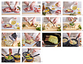 Lamb cutlets with herb crust and potato mash - step by step