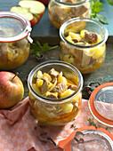 Preserved pork goulash with apples