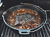 Boiled beef in a Dutch Oven