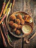 Deep fried carrot balls