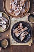 Faworki - deep fried Polish carnivale pastry