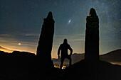 Stargazer observing the night sky