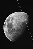 ISS lunar transit, March 2021