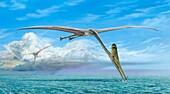 Arambourgiania pterosaurs, illustration