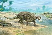 Polacanthus dinosaur, illustration