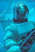 Astronaut training in the Neutral Buoyancy Simulator