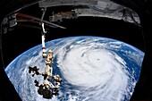 Hurricane Ida, ISS image