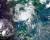 Hurricane Ida, satellite image