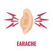 Earache, conceptual illustration