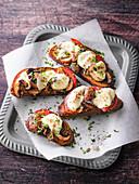 Vegetarische Feierabend-XXL-Brot-Pizza