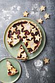 Star Pie with frozen berries