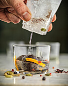 Gin and tonic with chocolate sweets