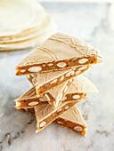 Alajú - Spanish honey cake
