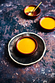 Baked Custard infused with Rooibos (South Africa) and Vanilla