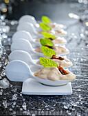 Foie gras mousse spoonfuls