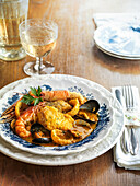 Zarzuela – Catalan dish with fish and seafood