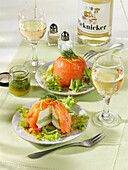 Salmon terrine with horseradish-cream cheese filling