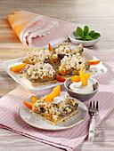 Juicy apricot-poppy seed cake
