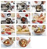 Sausage salad - step by step