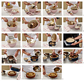 Winter cake with dried fruits - step by step