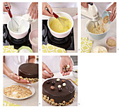 Wafer almond tart - step by step