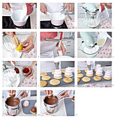 Chocolate coated mousse towers - step by step