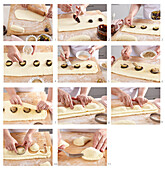 Damsoncheese pastries - step by step