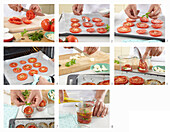 Homemade dried tomatoes in oil - step by step
