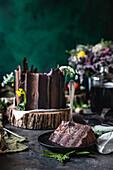 Chocolate plum log