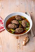 Baden wild liver dumpling soup