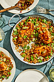 One-pan sticky hoisin rice and chicken