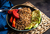 Healthy meal for losing weight in ketogenic style