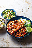 African vegetable and chickpea peanut curry