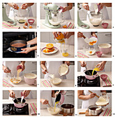 Baking chocolate cake with orange cream - step by step