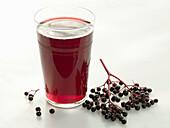 Elderberries and elderberry juice