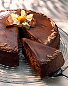 Chocolate and tea cake