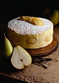 Bavarian pear dessert
