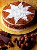 Schokoladenkuchen mit Puffreis