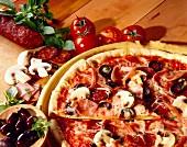 Regina pizza with chorizo